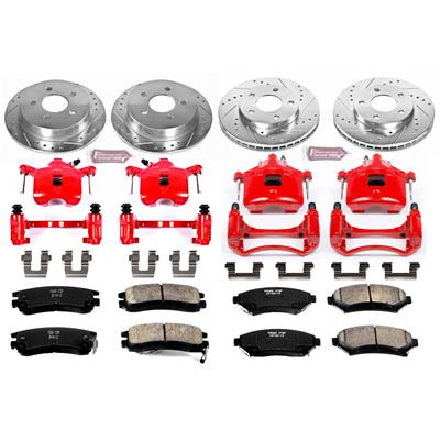 Power Stop KC5954 Front Z23 Evolution Sport Brake Kit with Calipers