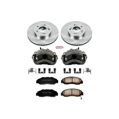 Power Stop KC704 1-Click Performance Front Brake Kit with Calipers