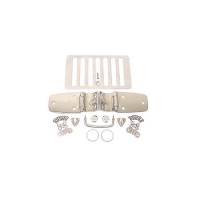 8 Pieces Rugged Ridge 11101.03 Stainless Steel Hood Kit