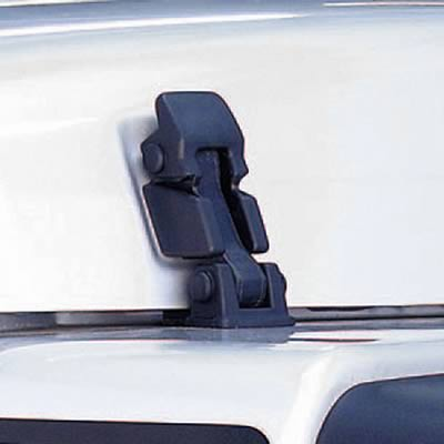 Rugged Ridge 1121009 Hood Latches Plastic Black Jeep Wrangler Pair