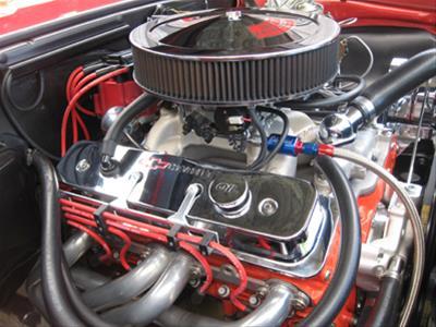 R&M Billet Wire Looms 2120-C on red classic cars nova, lamborghini nova, dacia nova, ford nova, pontiac nova, lada nova, mini nova, dodge nova, nissan nova, rally nova, honda nova, buick nova, toyota nova,