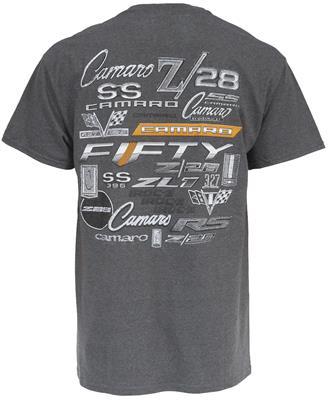 Chevy T Shirts >> Chevy Camaro Logos T Shirt Pn102 Xl