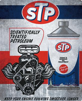 Stp Scientifically Treated Petroleum Steel Sign Free