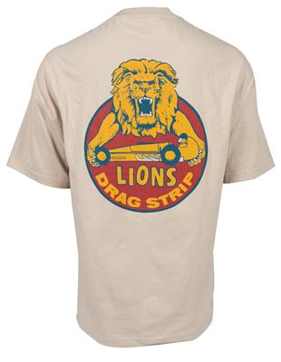 Lions Drag Strip Vintage Helmet  Mens Black 100/% CottonT shirt