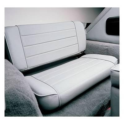 Smittybilt Seat Fold and Tumble Rear Bench Denim Black Jeep Wrangler