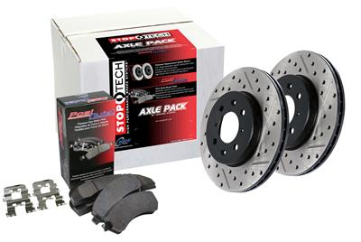 Stoptech 938.40055 Street Axle Pack Drilled /& Slotted Front