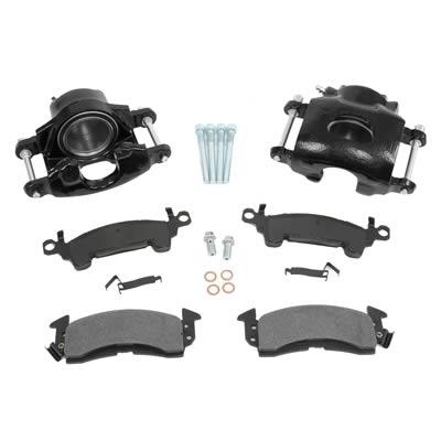 Summit Brake Caliper Pad Kit Cast Iron Black 1 Piston DRV PSGR Side