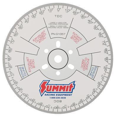 photograph regarding Degree Wheel Printable identified as Summit Racing® Cam Amount Wheels Quantity-G1057