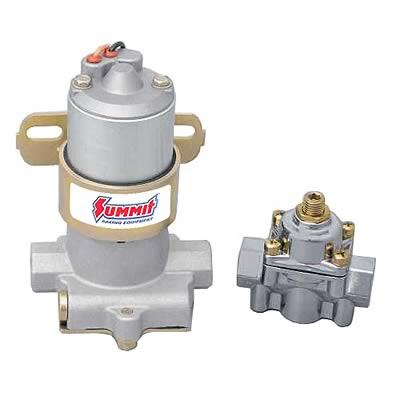 14PSI High Flow Electric Fuel Pump 140GPH Universal Regulator /& Pressure Gauge
