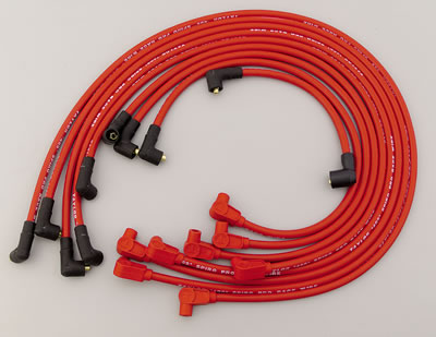 Taylor Spark Plug Wire Set 79229; 409 Pro Race 10.4mm Red 90° for Chevy V8