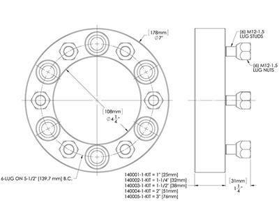 Trail Gear Wheel Spacers 140001 1 Kit