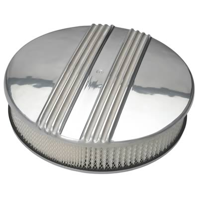 """Holley Air Cleaner Assembly 120-174; Polished 3.000/"""""""