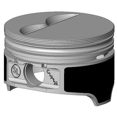 "Keith Black Piston Set 9906HC.030; Claimer 4.030/"" Bore Flat Top for 383 SBC"