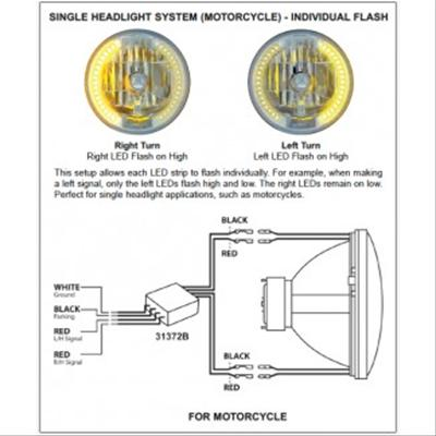 united pacific dual function led control modules 31372 free rh summitracing com GM Headlight Switch Wiring Diagram Motorcycle Headlight Wiring Diagram