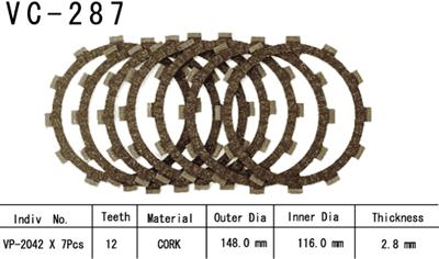 Vesrah Clutch Disc Set VC-287