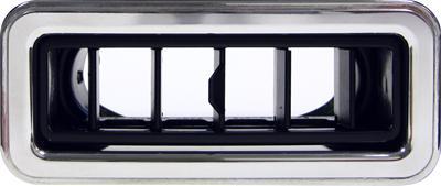 Vintage Air 49054-VUL Black//Chrome Round Under Dash Standard Louver