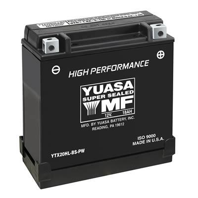 YUAM620BH YTX20HL-BS~ Yuasa High Performance Maintenance Free Battery