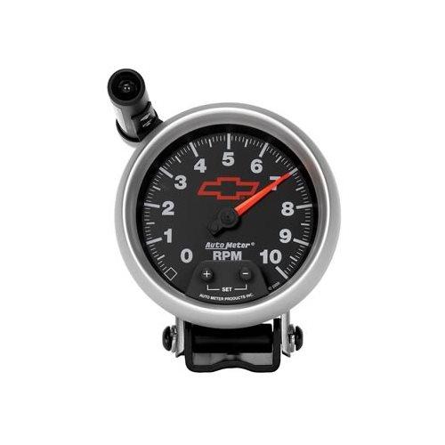 auto meter sport comp ii chevy bowtie tachometer 3690. Black Bedroom Furniture Sets. Home Design Ideas