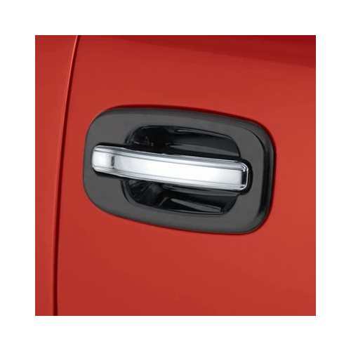auto ventshade door handle covers abs plastic chrome chevy silverado sierra pair ebay. Black Bedroom Furniture Sets. Home Design Ideas