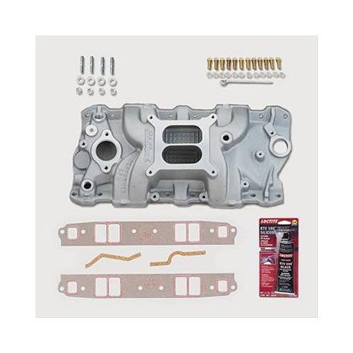 SBC 327 350 Chevy Edelbrock 7101 Intake Manifold W/Gaskets