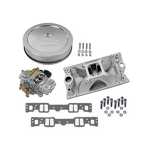 SBC Chevy 350 Vortec GM Performance Intake, Holley 770 Cfm