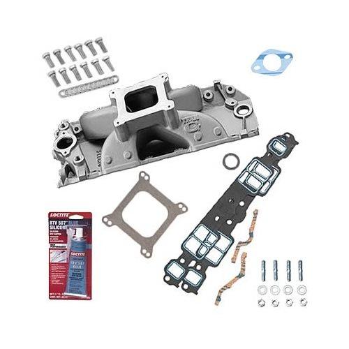 SBC 327 350 Chevy Weiand 753WND Intake Manifold W/Gaskets