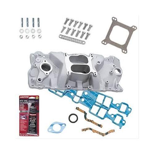 SBC 327 350 Chevy Edelbrock 2101 Intake Manifold W/Gaskets