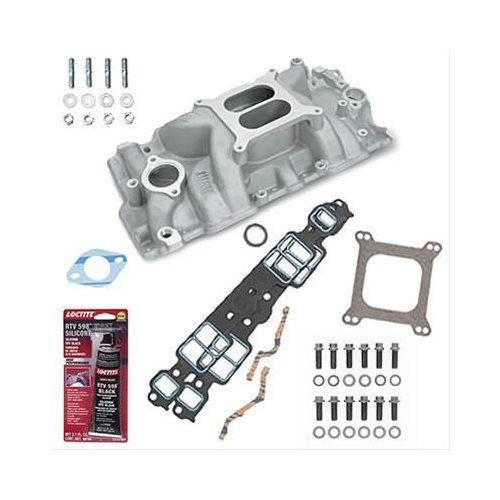 SBC 327 350 Chevy Weiand 8150 Intake Manifold W/Gaskets