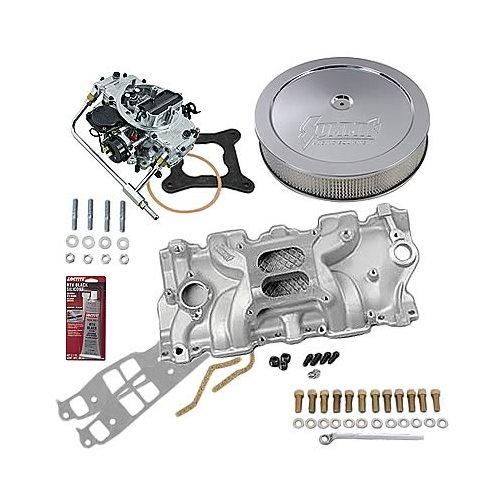 SBC Chevy 350 Stage 1 Intake Manifold, 600 Cfm V/S Carb