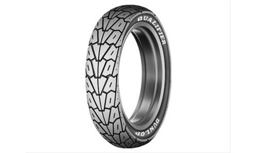 Dunlop k525 qualifier tire 421350 150 90 15 solid white for Dunlop white letter motorcycle tires