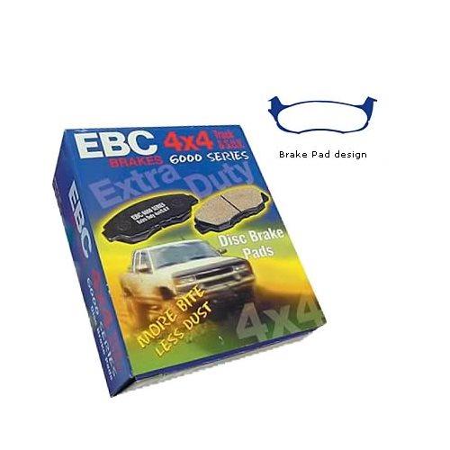Disc Brake Pad Set-EBC 6000 Series Greenstuff Truck//SUV Disc Brake Pad Rear