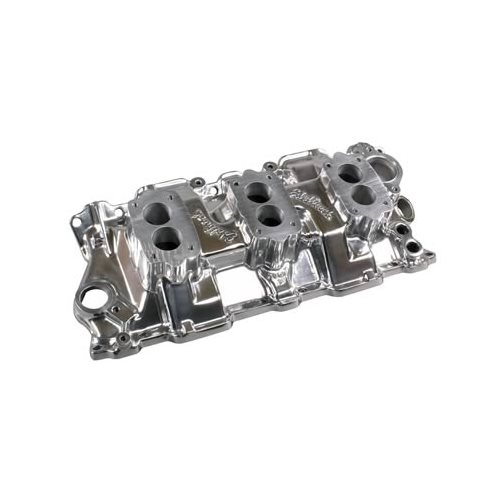 Edelbrock Three-Deuce Intake Manold Chevy S283 327 350