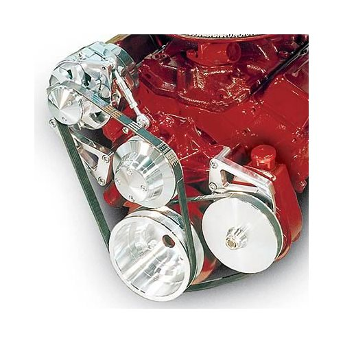 March Performance Pulley Kit Serpentine Performance Ratio: March Performance Pulley Kit Serpentine Aluminum Clear SBC
