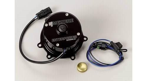 Meziere Water Pump Electric 55 Gpm Billet Aluminum Black