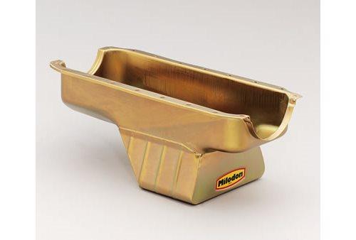 Milodon Oil Pan Steel Gold Iridite 8 Qt Dodge Sm Block 360