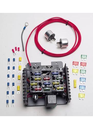 basic starting wiring diagram street rod painless wiring 50101 fuse block compact pro street 12 ... painless wiring pro street