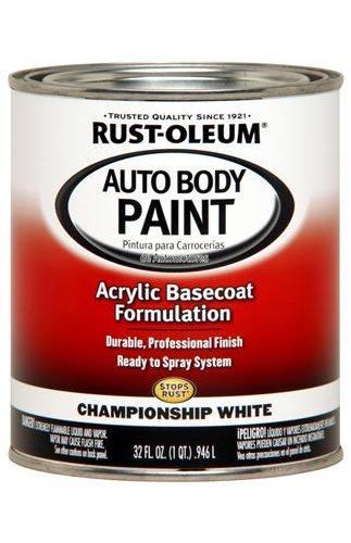 rust oleum paint acrylic base coat gloss championship white 1 qt ea. Black Bedroom Furniture Sets. Home Design Ideas