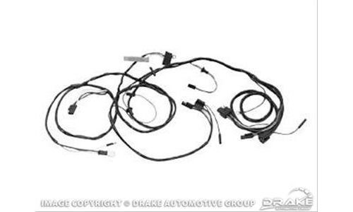 Scott Drake C6zz 14290 All Headlight Wiring Harness 3 Wire Black