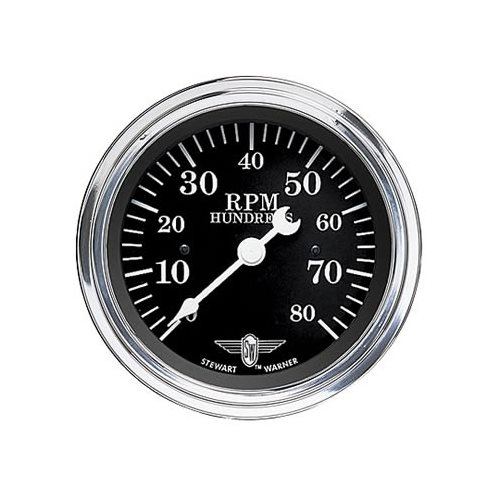 Stewart Warner Wings Tachometer 0 8 U0026quot  Dia In
