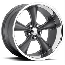 Boss Motorsports 3387-8850 - Boss 338 Gunmetal with Superfinish Lip Wheels