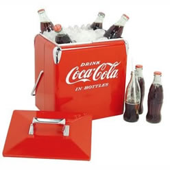 Coca-Cola®  Vintage Metal Cooler