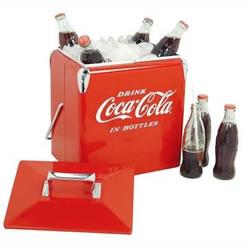 Coca-Cola®  Vintage Metal Cooler
