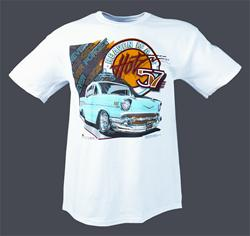 1957 chevrolet bel air t shirt free shipping on orders. Black Bedroom Furniture Sets. Home Design Ideas