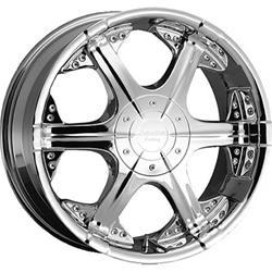 American Racing 643-28575 - American Racing Chrome Titan Wheels