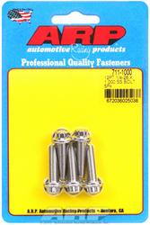 ARP 721-1000 Stainless Steel 1//4-28 Fine RH Thread 1.000 UHL 6-Point Bolt with 5//16 Socket and Washer, Set of 5