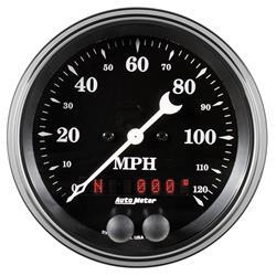1849 Antique Beige 3-3//8 120 MPH GPS Speedometer Gauge Auto Meter