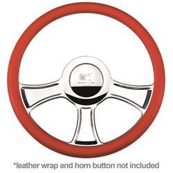 Dragster Billet Steering Wheel-Blue Jr