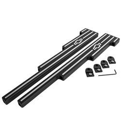 Top Street Performance JM9002C 9.5mm Ball Milled Chromed Billet Aluminum Wire Loom Set
