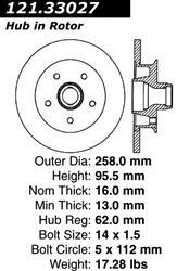 121.44030 Centric Brake Rotor
