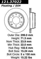 StopTech 128.37012L Sport Drilled Rotor Left